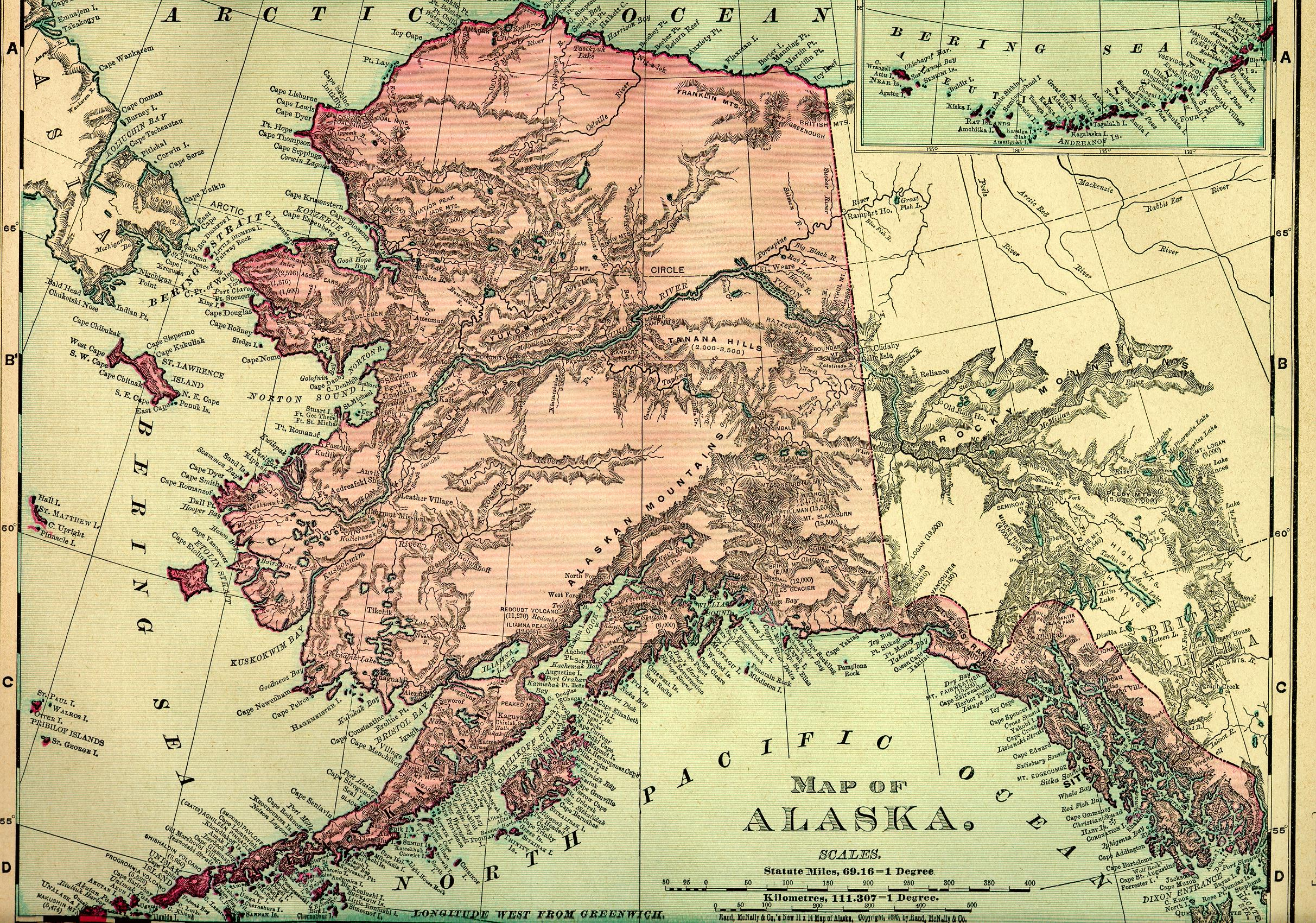Alaska 1895 Map