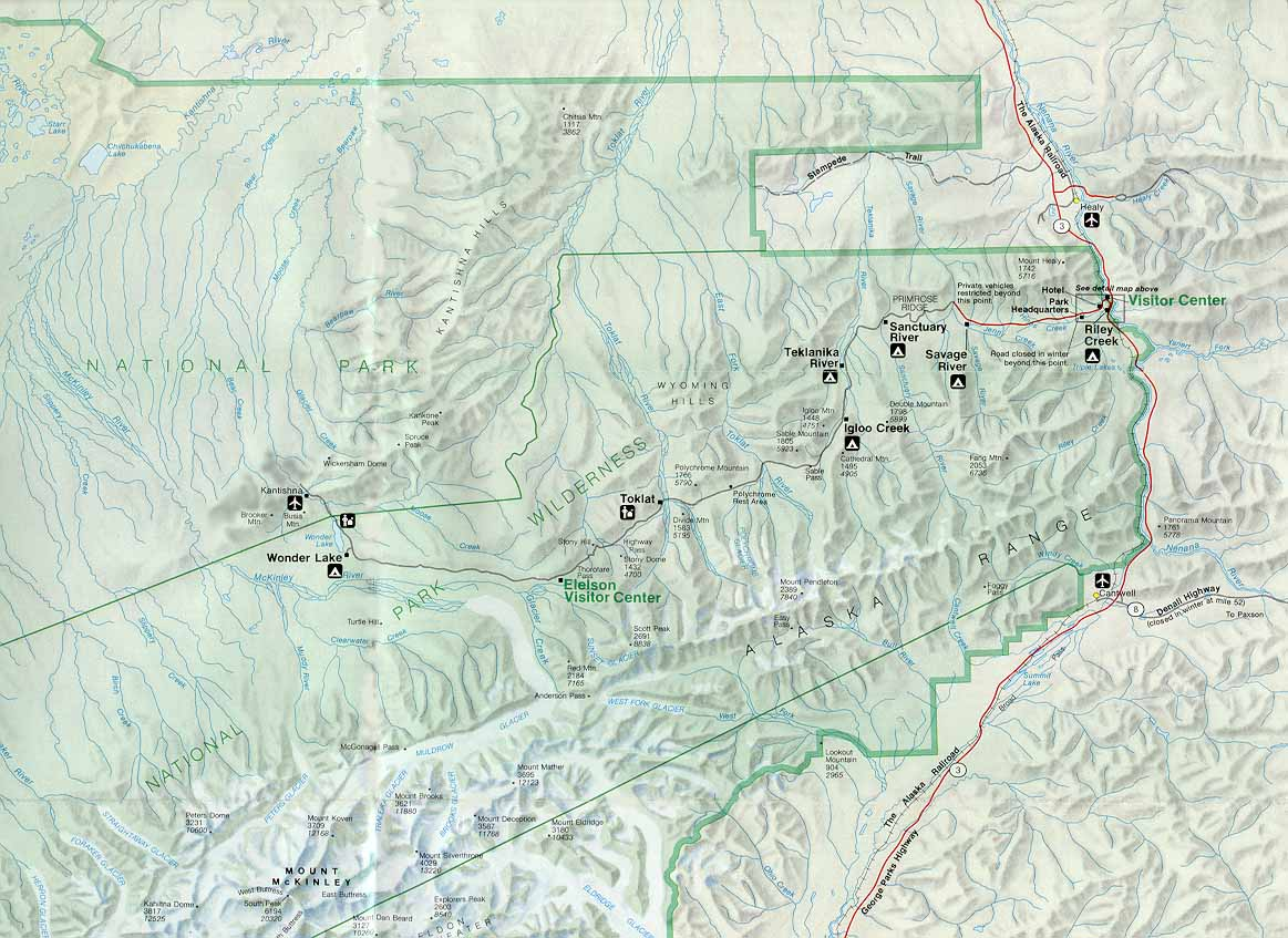 Denali Camping map