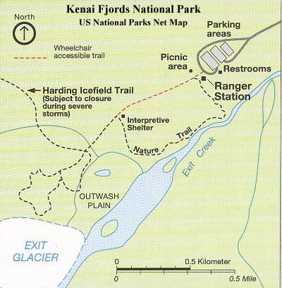 Exit Glacier Map
