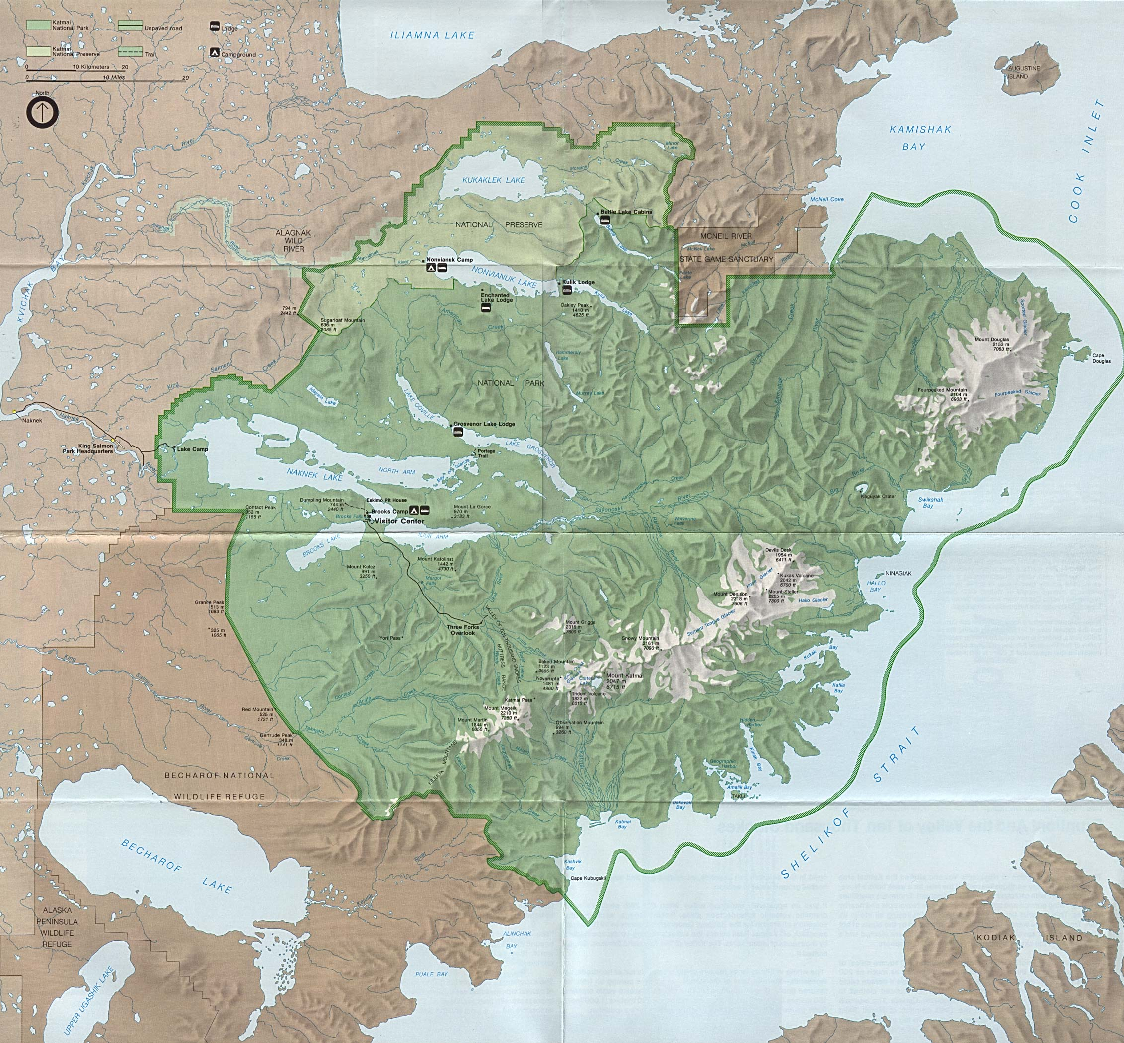 Katmai Map