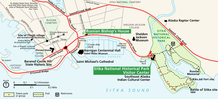 Sitka_National_Historical_Park_map