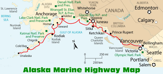 Map Of Alaska Highway System.How To Get To Alaska Information And Maps