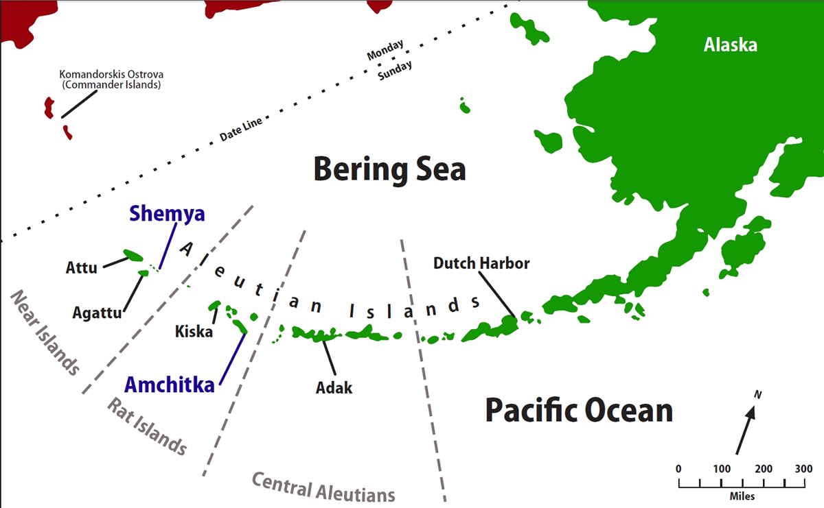 Aleutian Islands Map Alaska Trekker