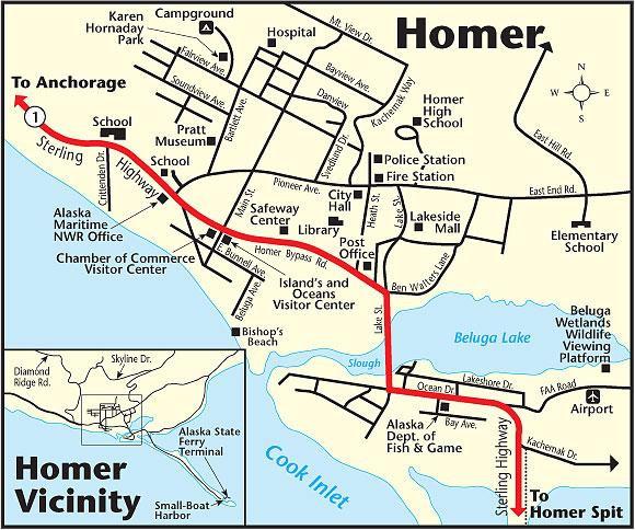 Homer Alaska - Fishing Guide, Hotel Information