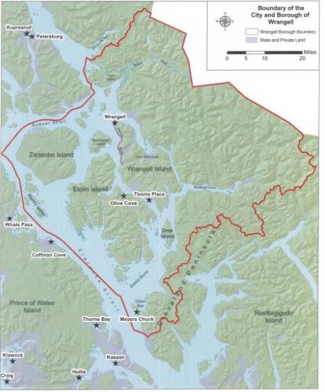Wrangell Alaska Map