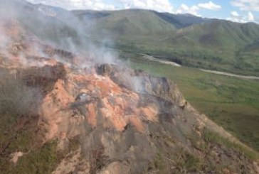 Fire on the mountain near the Yukon River