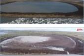 Beaufort Sea Lake Drains Into the Sea