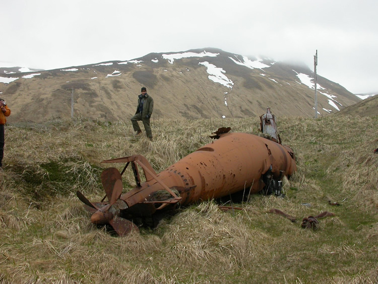 Japanese Submarines on Kiska Island in Alaska
